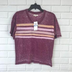 Ultra Flirt Top Juniors Striped Football T-Shirt